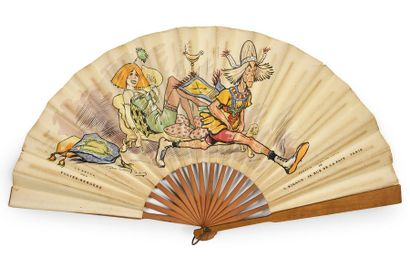 Mistinguett, vers 1900 Sur un divan, en costume...