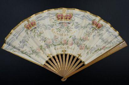 Le couronnement d'Edouard VII, 1902 Eventail...
