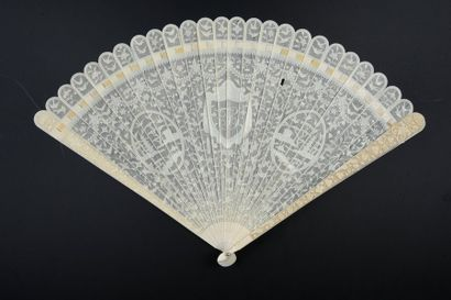 Fils d'ivoire, Chine, vers 1780-1800 Eventail...