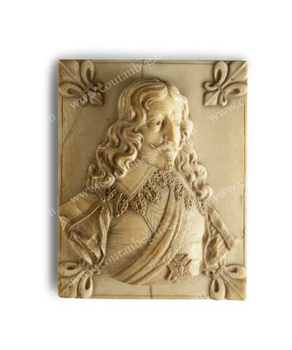 LOUIS XIII, roi de France (1601-1643). Médaillon...