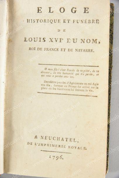 [LOUIS XVI, roi de France (1754-1793)]. Éloge...