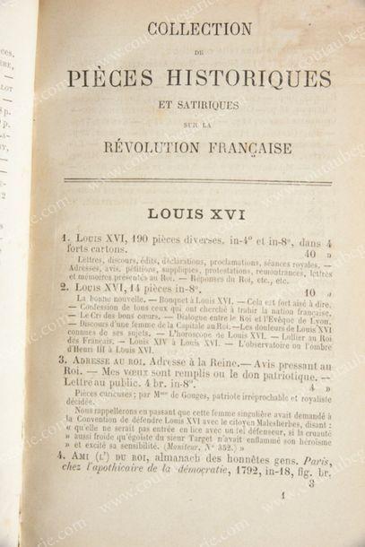 [LOUIS XVI, roi de France (1754-1793)]. Catalogue...