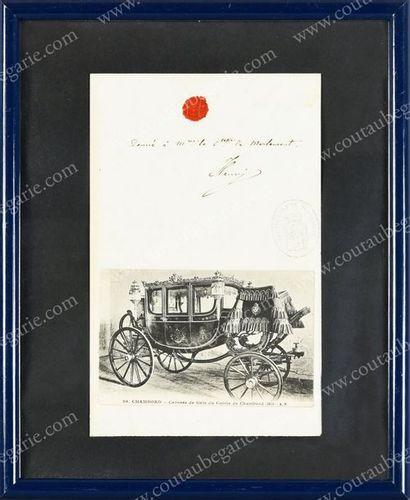 HENRI, comte de Chambord (1820-1883). Pièce...