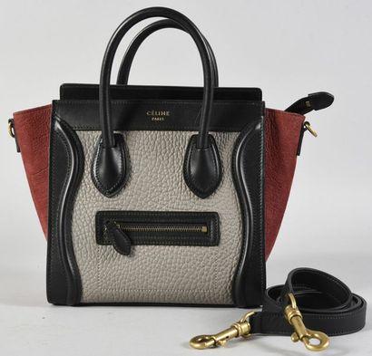 CELINE, sac à main Luggage, en cuir gris...