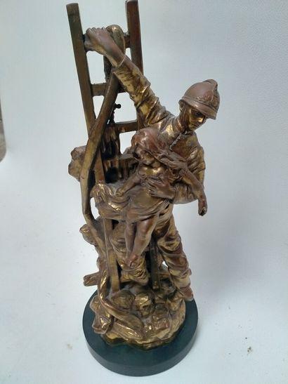 Hypolite . MOREAU : Le Devoir  Bronze doré...