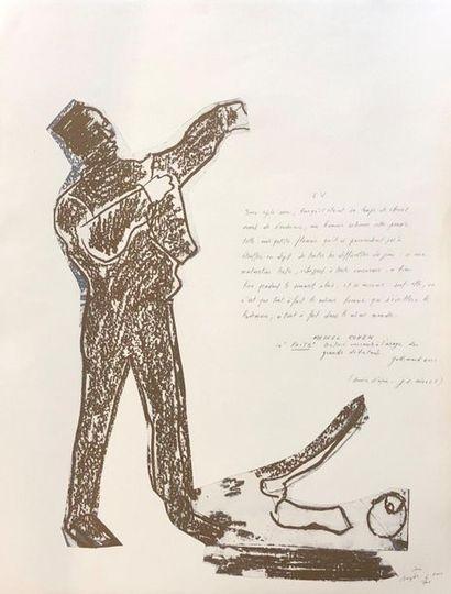 Pierre BURAGLIO (1939) Soir Lithographie et texte au crayon signé, titré et numéroté...