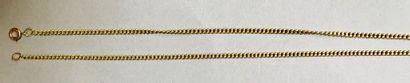 Chaîne en or jaune, 18k 750‰, maille gourmette....