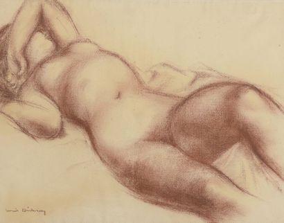 Louis DIDERON (1901-1980)  Nu féminin allongé...