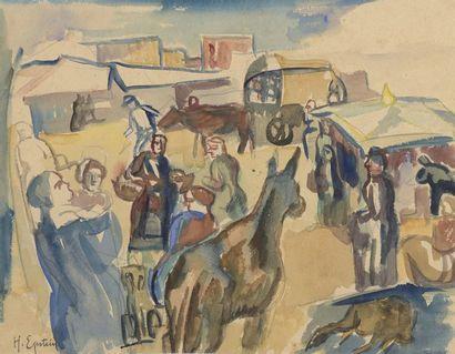 Henri EPSTEIN (1891/1892-1944)  LE MARCHE...