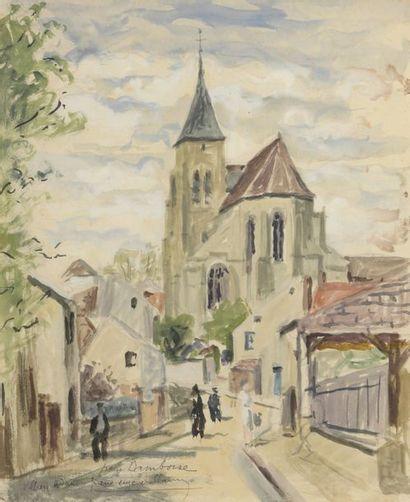 Pierre-Eugène CLAIRIN (1897-1980)  L'EGLISE...
