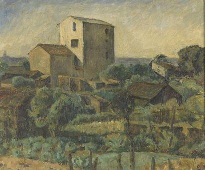 Ellen FISCHER (1889-1966)  Lot de deux peintures?:...