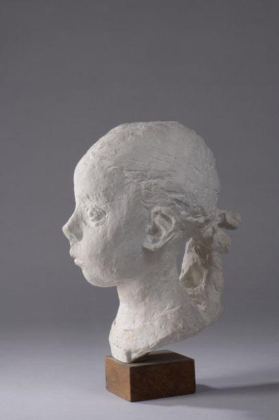 Léon INDENBAUM (1890-1981)  Buste de fillette...