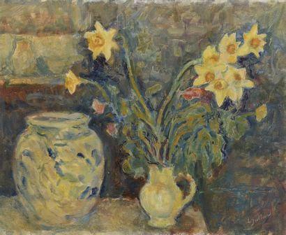 JULLIARD  Bouquet de jonquilles  Huile...