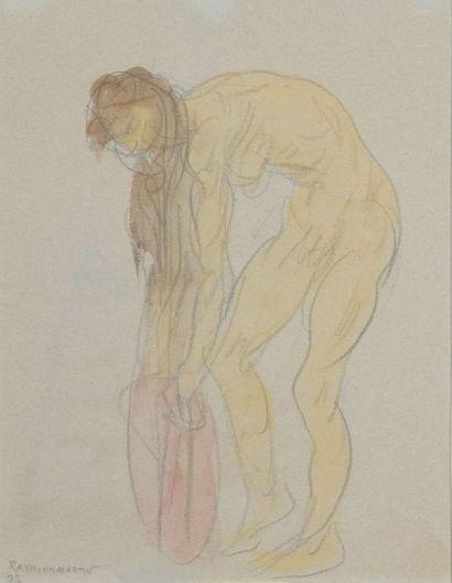 Raymond MARTIN (1910-1992)  NU FEMININ PENCHE...