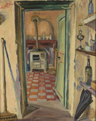 Henry PORTAL (1890-1982)  La cuisine  Huile...