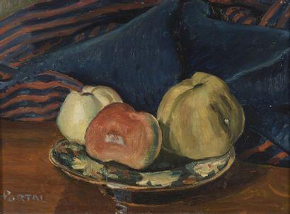 Henry PORTAL (1890-1982)  Assiette aux trois...