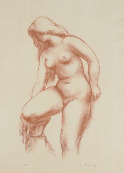 Louis DIDERON (1901-1980)  Nu féminin s'essuyant...