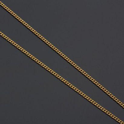 Grande chaîne en or jaune, 18k 750‰, maille...