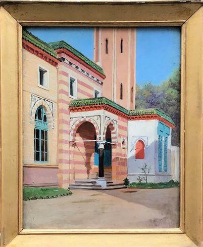 Ecole Orientaliste Xxe siècle Vue de l'entrée...