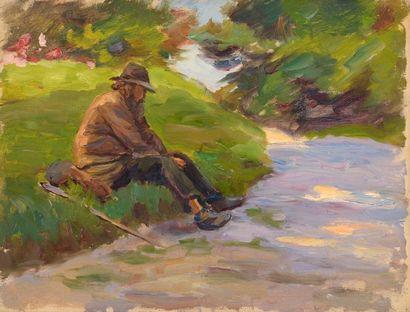 Charles WISLIN (1852-1932)  Le randonneur...