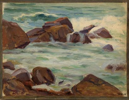 Charles WISLIN (1852-1932)  Rochers à Trestraou...