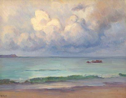 Charles WISLIN (1852-1932)  Les nuages en...