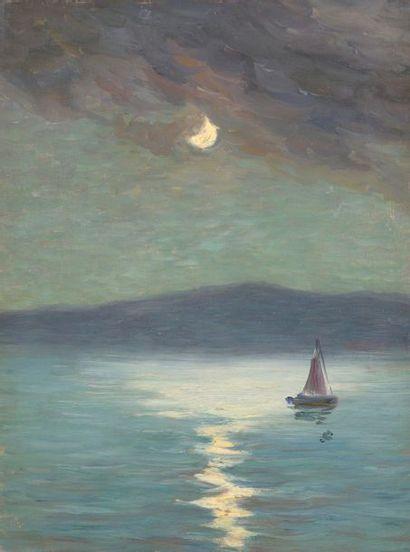 Charles WISLIN (1852-1932)  Voilier au clair...