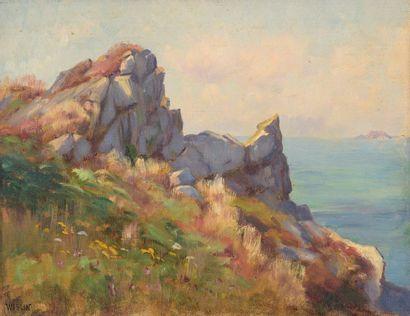 Charles WISLIN (1852-1932)  Les rochers à...