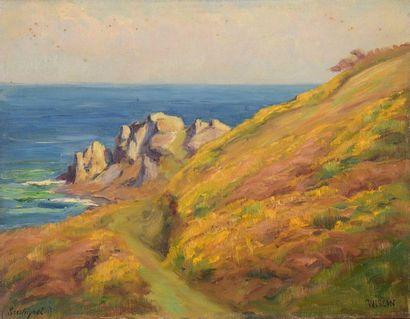 Charles WISLIN (1852-1932)  Vue de la mer...
