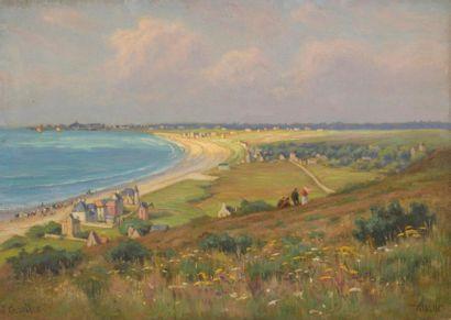 Charles WISLIN (1852-1932)  Vue de la plage...