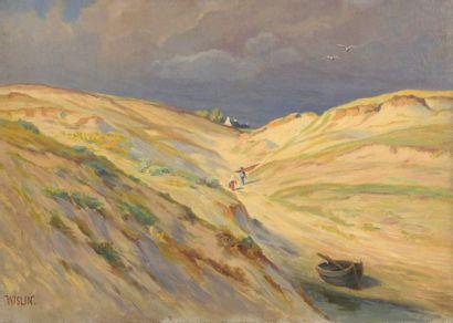 Charles WISLIN (1852-1932)  Retour de plage...