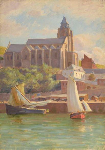 Charles WISLIN (1852-1932)  L'église Saint-Jacques...