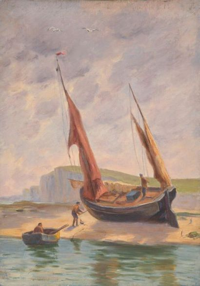 Charles WISLIN (1852-1932)  Bateau de pêche...