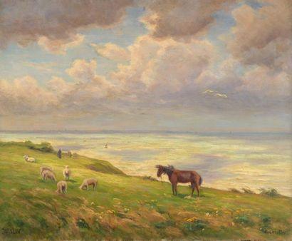 Charles WISLIN (1852-1932)  Au vent sur la...
