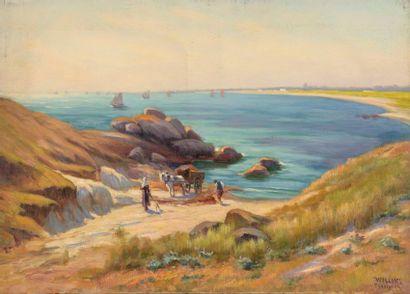 Charles WISLIN (1852-1932)  Les ramasseurs...
