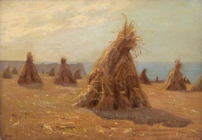 Charles WISLIN (1852-1932)  Les foins et...