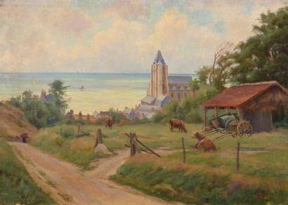 Charles WISLIN (1852-1932)  Vue du Tréport...