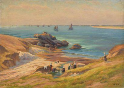 Charles WISLIN (1852-1932)  Les lavandières...