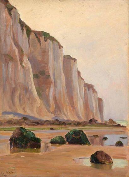 Charles WISLIN (1852-1932)  Au pied des falaises...