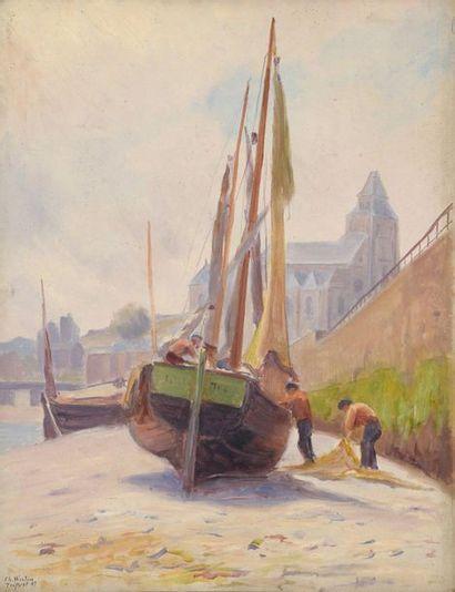 Charles WISLIN (1852-1932)  Le pliage des...