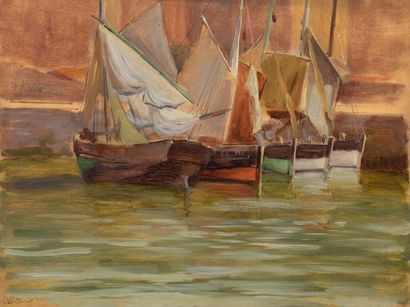 Charles WISLIN (1852-1932)  Les voiliers...