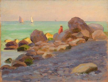 Charles WISLIN (1852-1932)  Jeune femme en...