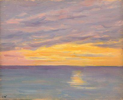 Charles WISLIN (1852-1932)  Coucher de soleil...