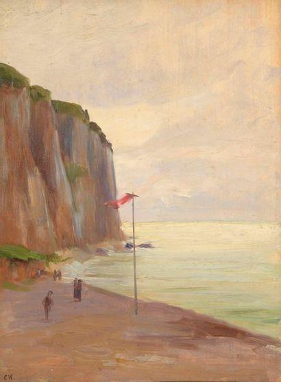 Charles WISLIN (1852-1932)  Drapeau rouge...