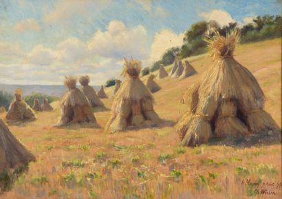 Charles WISLIN (1852-1932)  Les meules de...