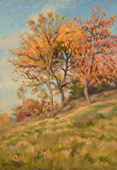 Charles WISLIN (1852-1932)  Les merisiers...