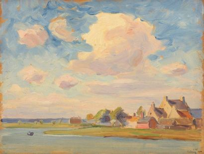 Charles WISLIN (1852-1932)  Les maisons du...