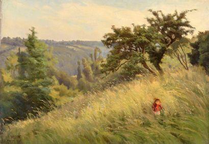 Charles WISLIN (1852-1932)  Fillette sur...