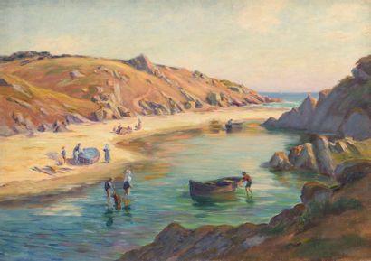 Charles WISLIN (1852-1932)  Baignade par...