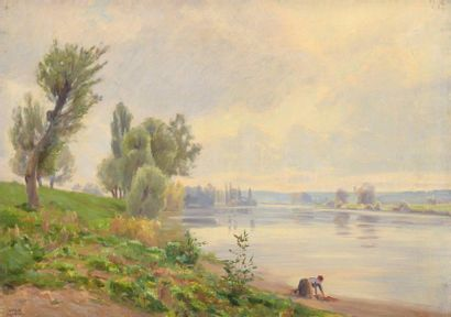 Charles WISLIN (1852-1932)  Lavandières en...